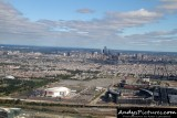 Wells Fargo Center, Lincoln Financial Field, Citizens Bank Park and Philadelphia skyline