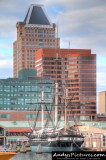 Downtown Baltimore & USS Constellation