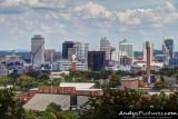 Nashville skyline & Vanderbilt Stadium as seen from Love Hill