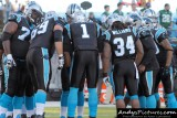 Carolina Panthers offensive huddle