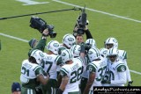 NY Jets team huddle