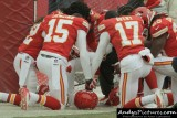 Kansas City Chiefs team huddle