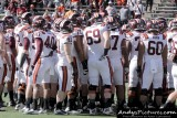 Virginia Tech team huddle