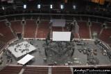 Wells Fargo Center - George Strait Concert setup