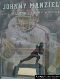 Johnny Manziel Heisman Trophy display at Kyle Field