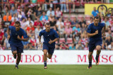 Giovanni van Bronckhorst, Wesley Sneijder and Zlatan Ibrahimović