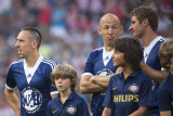Funny face: Robben with Ribéry and Müller