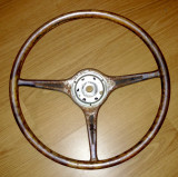 Restoration of Porsche Carrera 2 teak steering wheel