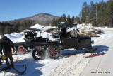 Model T Snowmobiles out in the Farm