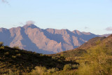 Hikers and the Estrella Mountains
