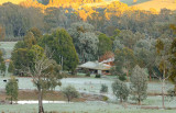 Where we live. on a frosty morning