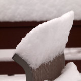 Unusual formation of snow