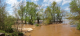 Panorama - Flooding at Violettes Lock