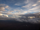 Sun is beginning to set as we come in to land at El Paso
