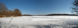 Panorama - Ice on the river at Rileys Lock