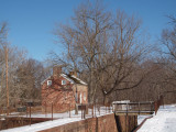Lockhouse in the sun and snow
