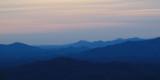 Over the ridges just before sunrise