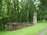 Remains of lockhouse at lock 57