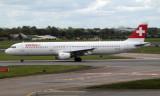 Swiss A321-111 at Dublin