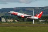 Jet2 Boeing 737-8K5 takeoff at Glasgow