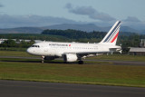 Air France A318-111 arrival at Glasgow