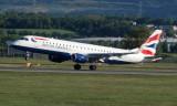 British Airways Embraer ERJ-190 at Glasgow