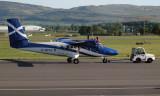 Loganair Viking DH-6-400 Twin Otter at Glasgow