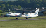 Flybe Bombardier Dash 8 Q400 about to lift off at Glasgow