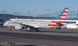 American Boeing 757-2B7 on the tarmac at Glasgow
