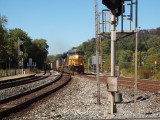 Freight train to Baltimore passes Point of Rocks