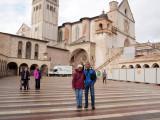 In the Piazza inferiore di San Francesco, Assisi, June 2016