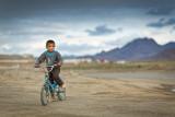 Apprehensive boy - Tajikistan