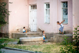 Boys playing outside - Tajikistan