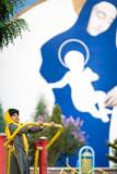 Girl playing beside Marium and Jesus - Tehran