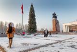 Kyrgyz girl waiting - Bishkek