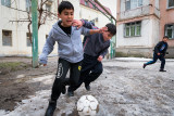 Kicking the ball - Dushanbe