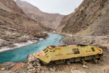 Abandoned military vehicle - Badakhshan