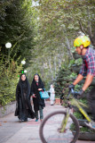Pedestrians and cyclist - Tehran