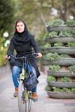 Female cyclist - Tehran