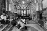 Men pray at tomb of holy man - Tehran