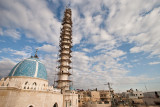 Scaffolding on minaret - Jenin