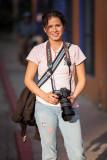 La fotógrafa muy bonita