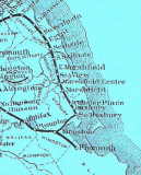 Close-up of Railroad Map