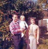 Ben, Gwenn and baby Miriam 1956