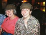 Gwenn and Rebecca at the Sherlock Holmes pub in London