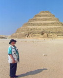 Gwenn at the Pyramids in Egypt