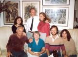 Ben and Gwenn with (clockwise) Sara, Tom, Miriam, Cam, Rebecca (late 1980s?)