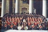 Gwenn & University of Iowa women's Pipe & Drum band ca. 1951