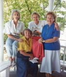 Gwenn and book club friends