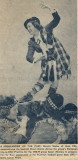 newspaper clipping of Gwenn's Scottish dancing